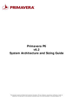 P6 System Architecture and Sizing Guide v17