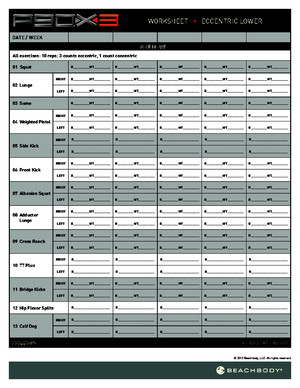 P90X3 Worksheets