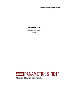 Panametrics Thickness Gage 25_Manual