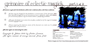 Parker Torrence - Grimoire of Eclectic Magick Part 1 of 3 Cd7 Id260706062 Size347