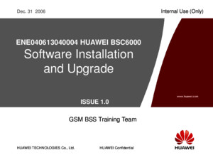 91835544-3-EnE040613040004-HUAWEI-BSC6000-Software-Installation-Upgrade-20061231-A-1-0
