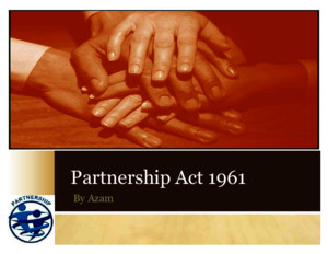 Partnership Act 1961