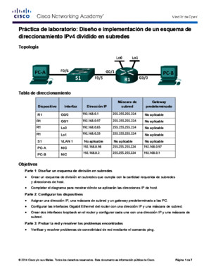 9213 Lab - Designing and Implementing a Subnetted IPv4 Addressing Scheme