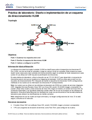 9214 Lab - Designing and Implementing a VLSM Addressing Scheme