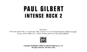 Paul Gilbert - Intense Rock I Booklet