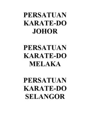 Persatuan Karate Do States