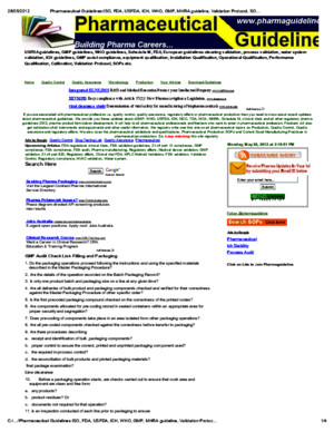 Pharmaceutical Guidelines_ISO, FDA, USFDA, ICH, WHO, GMP