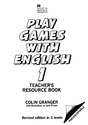 Play Games With English 1 Teachers Resource Book Macmillan Heineman