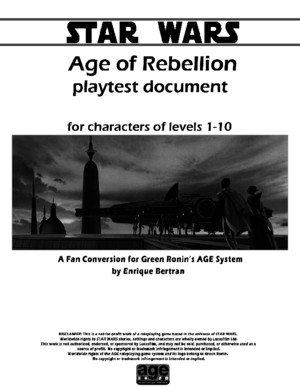 Playtest Age of Rebellion