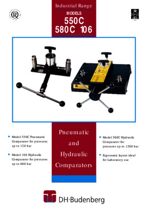 Pneumatic and Hydraulic Comparators