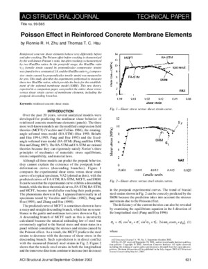 Poisson Effect in Reinforced Concrete Membrane Elements