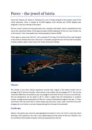 Porec - The Jewel of Istria