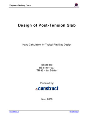 Post-tension Flat Slab Design Example