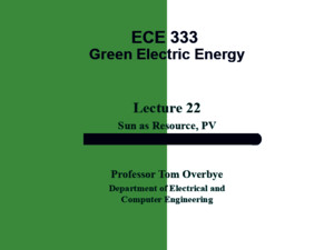 Presentation on Green Energy