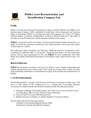 Pridhvi Asset Reconstruction and Securitisation Company Ltd