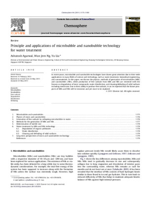 Principle and Application of Microbubble and Nanobubble Technology for Water Treatment