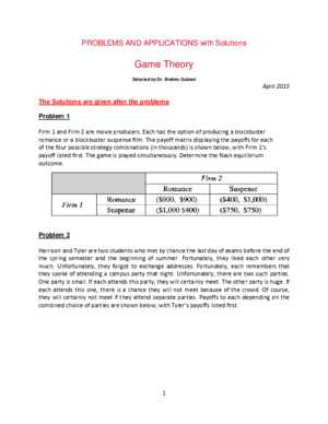 PROBLEMS GameTheory WithSolution