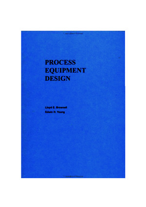Process Equipment Design by Brownell Young 0471113190pdf