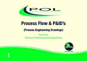 Process Flow and PIDs Workbook 1