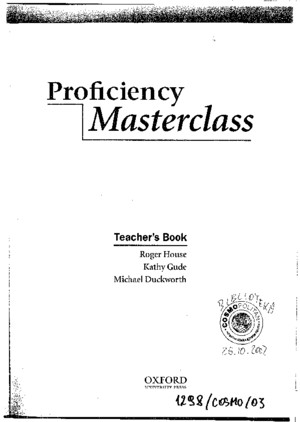 Proficiency Masterclass - Teacher-Book