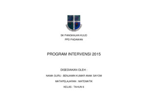 Program Intervensi Tahun 6 2015