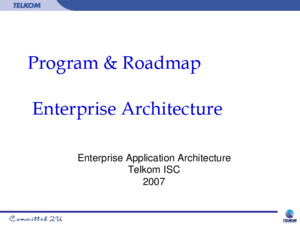 Program Roadmap Enterprise Architecture