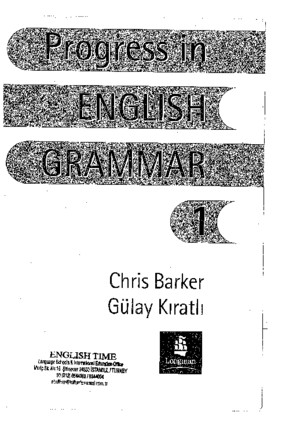 Progress in English Grammar 1pdf