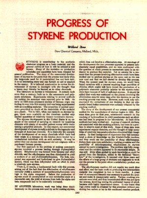 Progress of Styrene Production