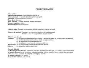 Proiect Didactic G