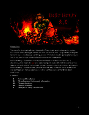 Project Brutality 20 User Manual