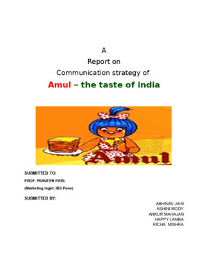 Project Report on Amul Ice Cream