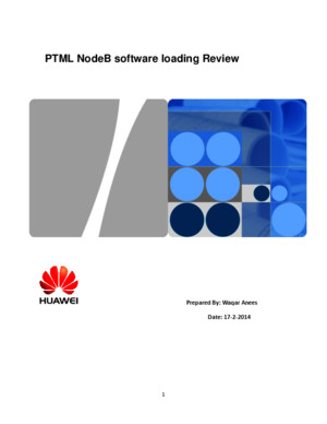 PTML-NodeB Software Loading