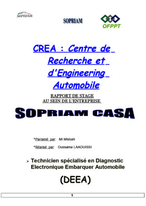 Rapport de Stage Sopriam