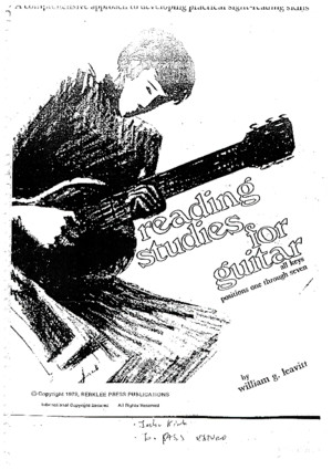 Reading studies for guitar - William Levitt