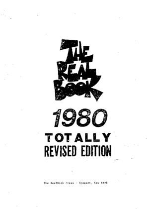 Real Book 1 1980 Edition Cpdf
