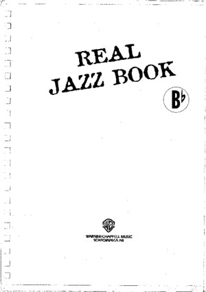Real Jazz Book in Bb