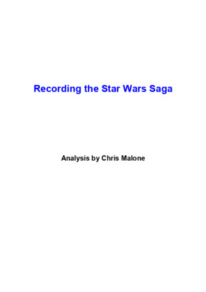 Recording the Star Wars Saga