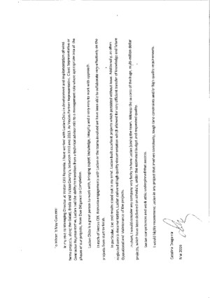 Reference letter, wellstar