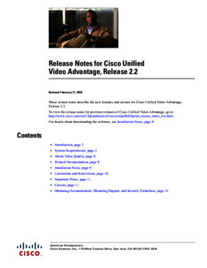Release Notes for Cisco Unified Video Advantage, Release 2