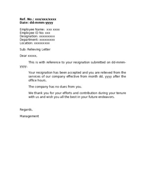 Relieving Letter - 5Docx