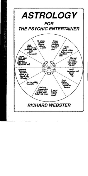 Richard Webster - Astrology For The Psychic Entertainer by flechalivros
