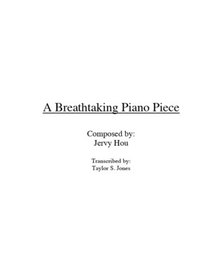 A Breathtaking Piano Piece by Jervy Hou