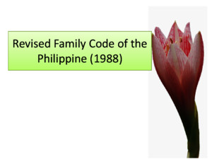 Revised Family Code of the Philippine (1988
