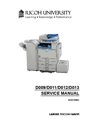 Ricoh MP 4000 SM D009_D011_D012_D013 SERVICE MANUAL pdf