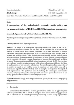 A comparison of the technological, economic, public policy, and environmental factors of HVDC and HVAC interregional transmission