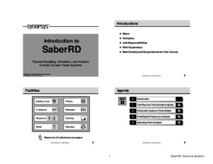 SaberRD Electrical Student Guide v17