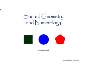 Sacred Geometry and Numerology