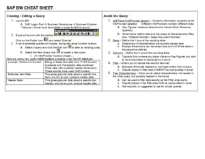 Sap Cheat Sheet