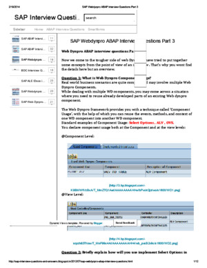 SAP Webdynpro ABAP Interview Questions Part 3