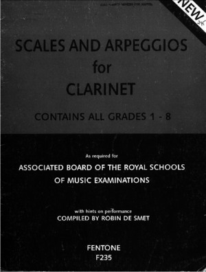 Scales and Arpeggios for Clarinet Smet
